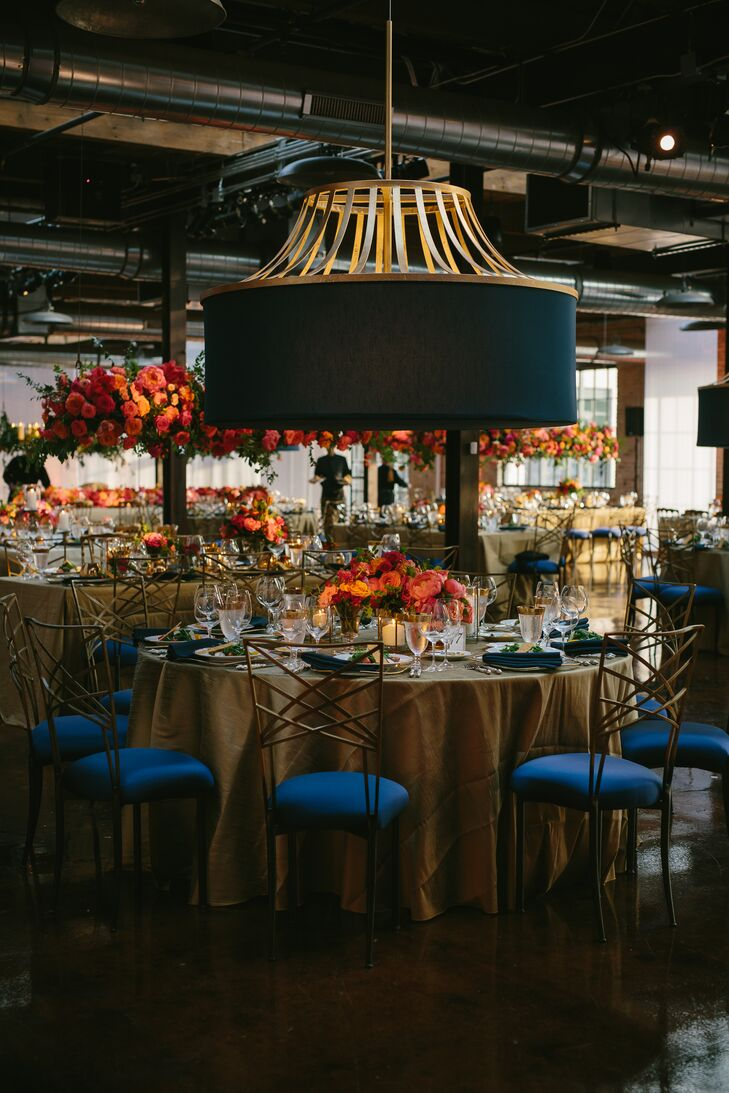 Round Dining Tables at Modern Loft Reception