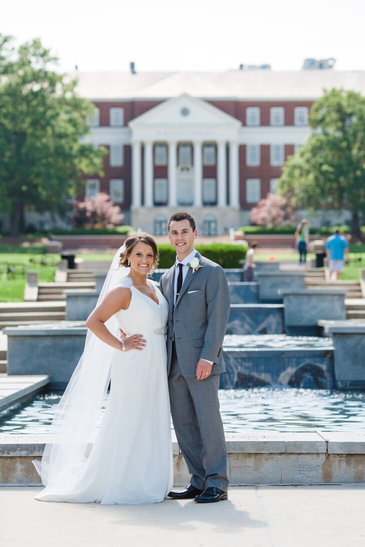 Bride and Groom at the University of Maryland