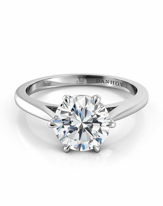 Danhov Classico Six-Prong Solitaire Engagement Ring photo