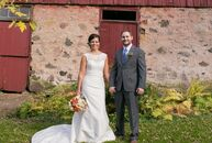 With an outdoor fall wedding, Beth Nersesian (28 and a high school teacher) and Roger Sandstrom (28 and a utilities operator) wanted to keep some of t