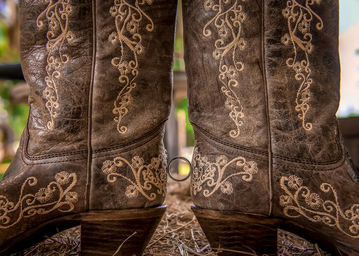Brown Bridal Wedding Boots