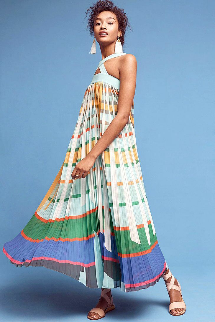 Colorful Maxi Beach Wedding Guest Dress