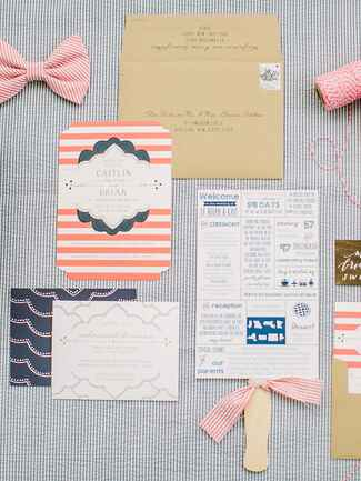 Nautical wedding invitation suite idea