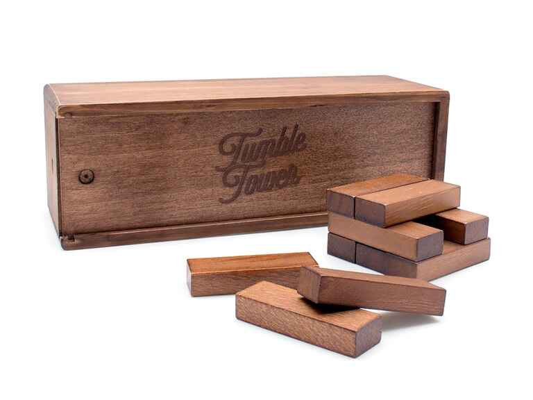 Luckies of London tumble tower game wood anniversary gifts
