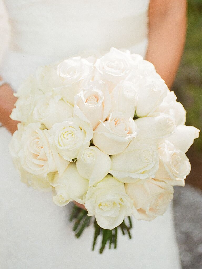 Clic White Wedding Bouquet Of Roses