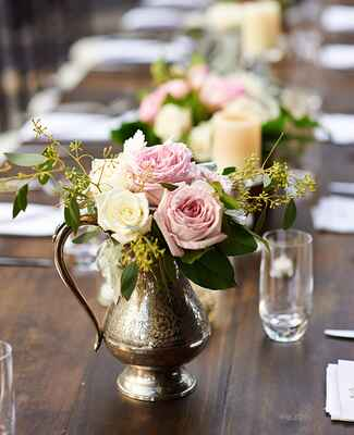 antique teapot centerpiece |<img class=