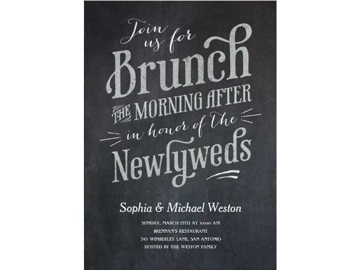 our favorite post wedding brunch invitations