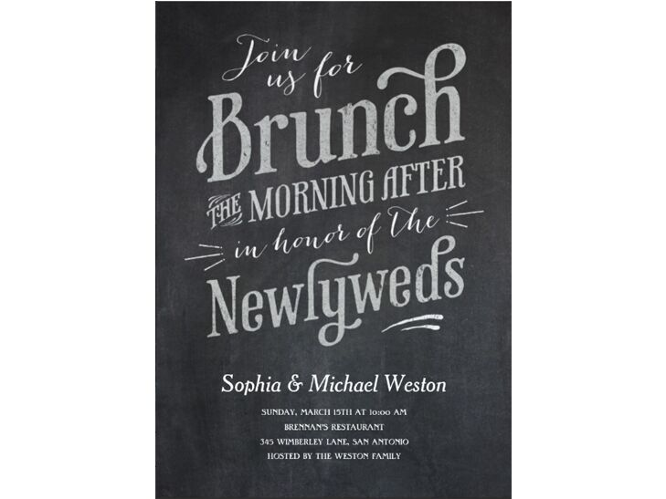 Chalkboard Brunch Invite