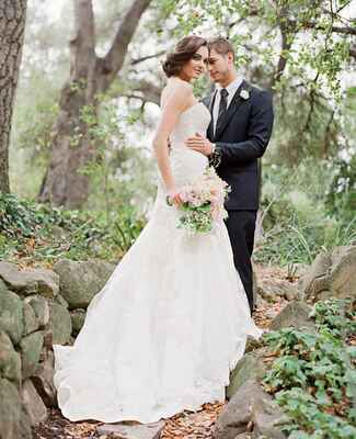 Maggie Sottero wedding gown and Lanvin grooms suit | Jose Villa | blog.theknot.com