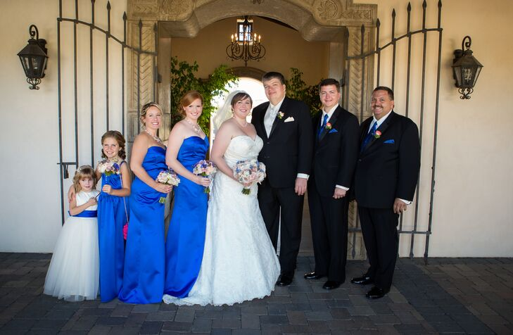 Royal Blue and Black Wedding Party