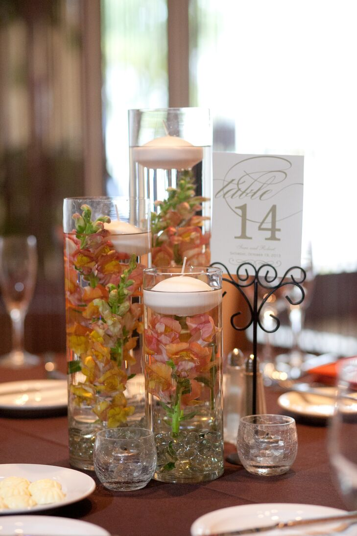 Submerged Floral Centerpieces
