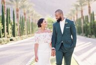 The casual vibes and picturesque terrain of California's Palm Springs inspired Blair Duckworth (26 and a graphic designer) and Spencer Paysinger (27 a