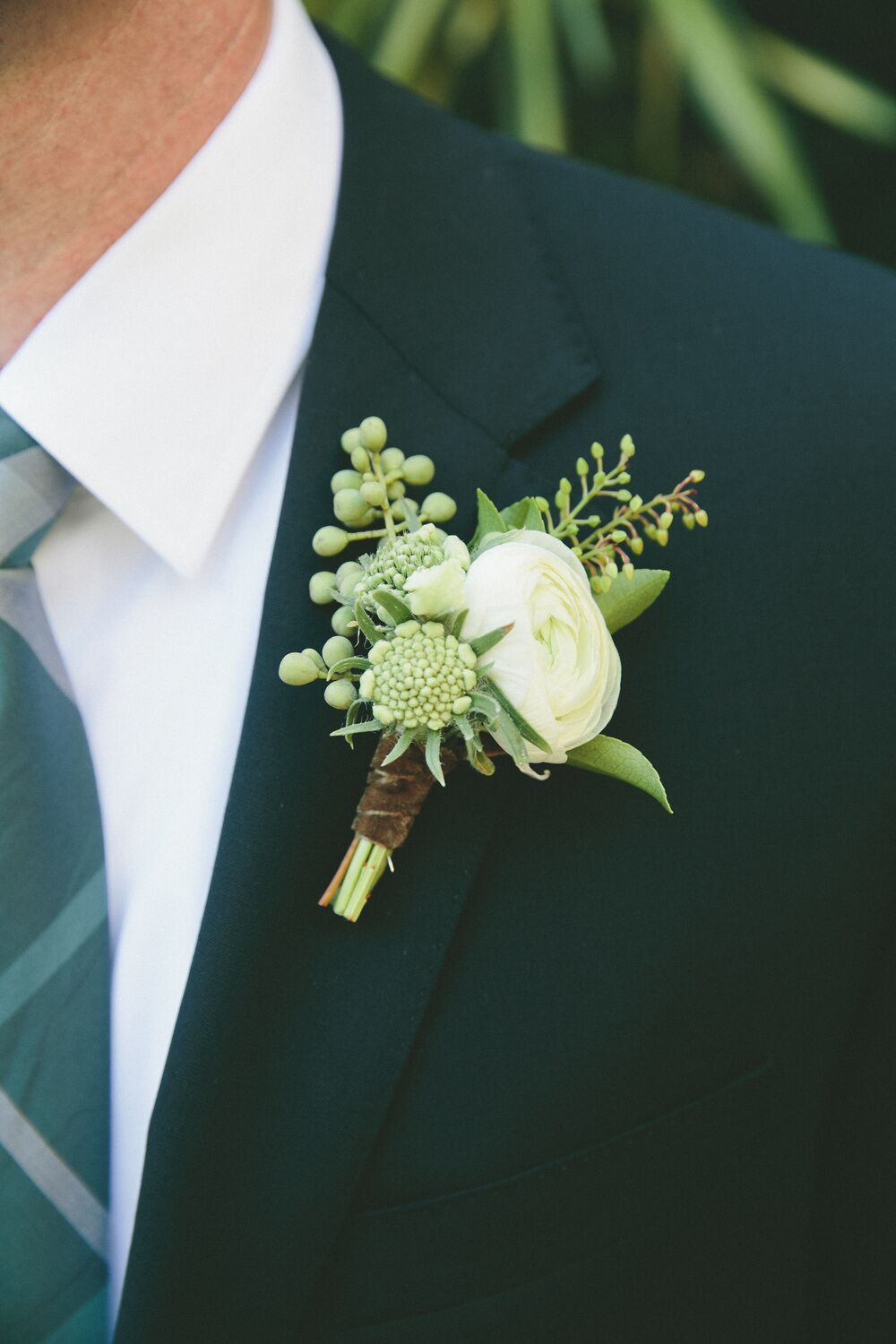 ranunculus anemone and eucalyptus boutonniere. Black Bedroom Furniture Sets. Home Design Ideas