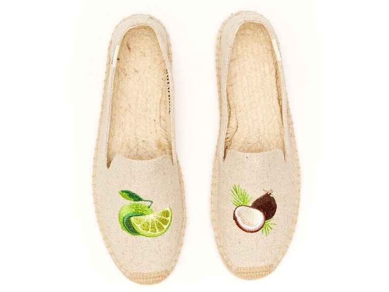​​Soludos ​lime and coconut smoking slipper