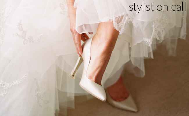 changing your shoes from ceremony to reception | blog.theknot.com