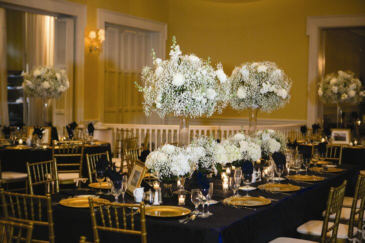 Hydrangea And Baby S Breath Centerpieces