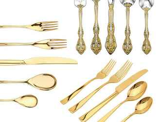 Gold flatware registry trend