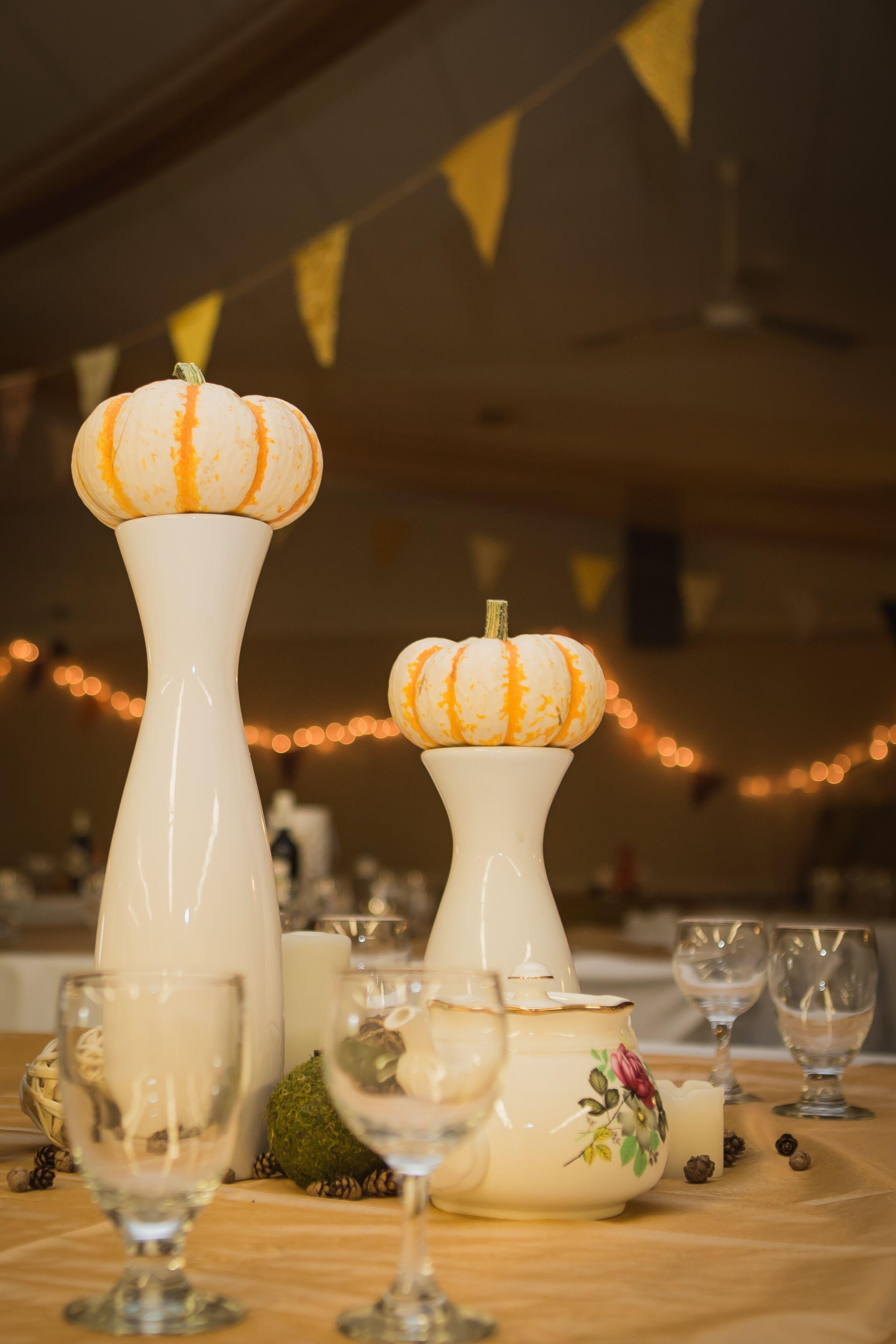 Mini Pumpkin Centerpieces