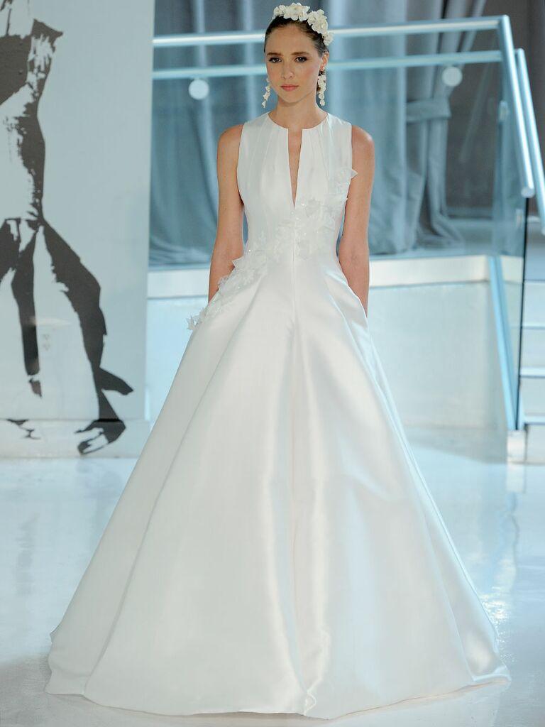Peter langner spring 2018 collection bridal fashion week photos peter langner spring 2018 sleeveless ball gown junglespirit Gallery
