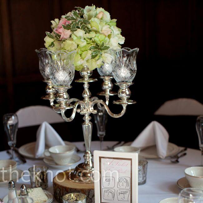 Candelabra Wedding: Candelabra Floral Centerpieces