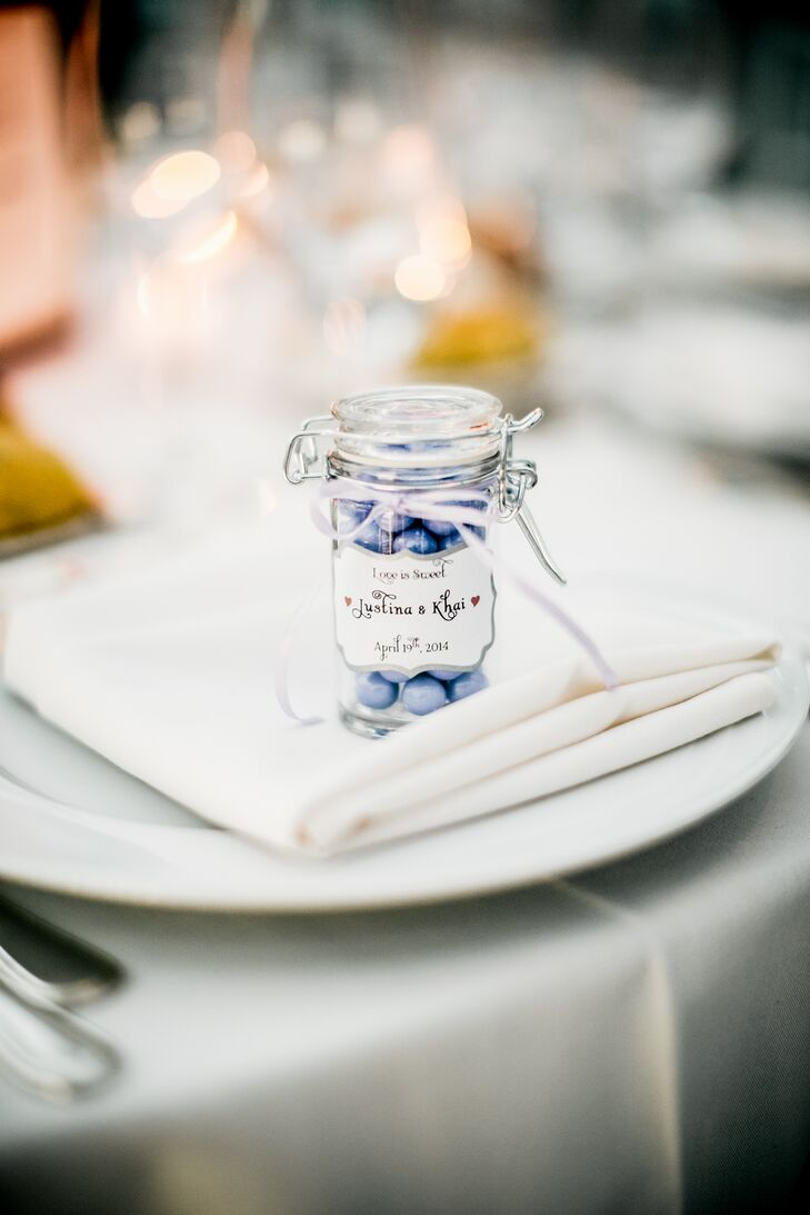 Personalized Candy-Jar Wedding Favors