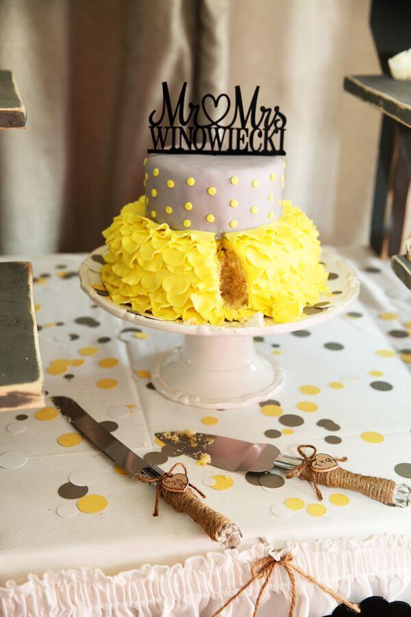 Wedding Cake Resembling a Birch Tree