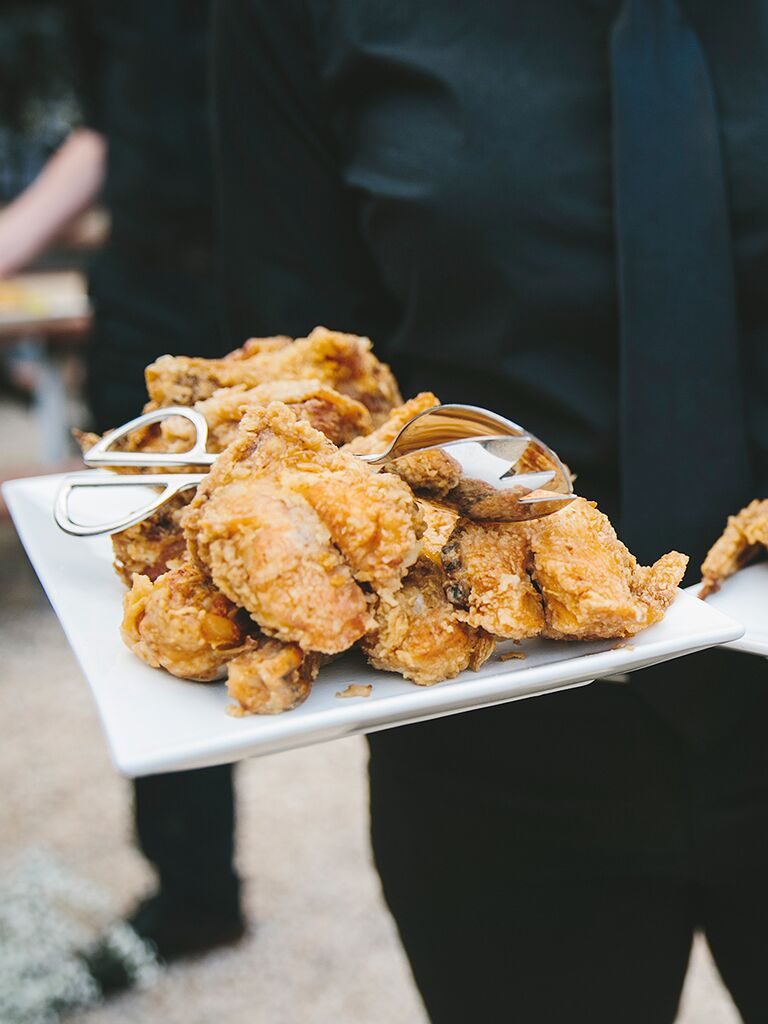 Family Style Southern Wedding Food With Fried Chicken