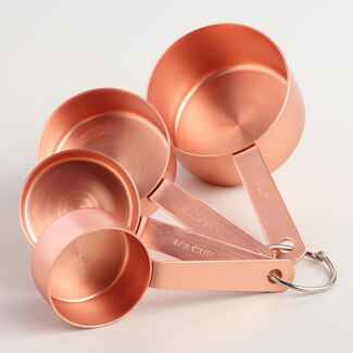 Copper measuring cups registry gift
