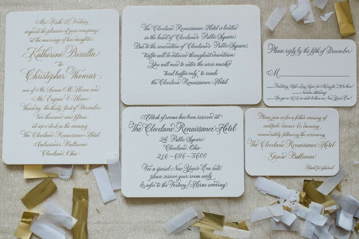 Wedding Invitations Cleveland: A Romantic New Year's Eve Wedding At Renaissance Cleveland