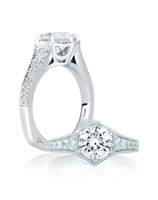 A.JAFFE Deco Pave Engagement Ring, MES646 Engagement Ring photo