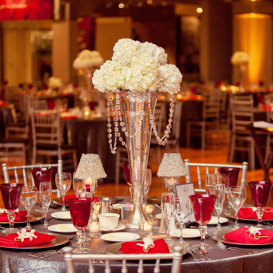 A Formal Banquet In Large Ballroom Reception