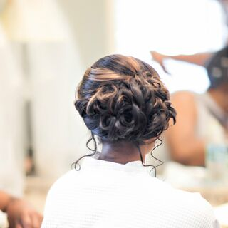 Real Wedding Updos