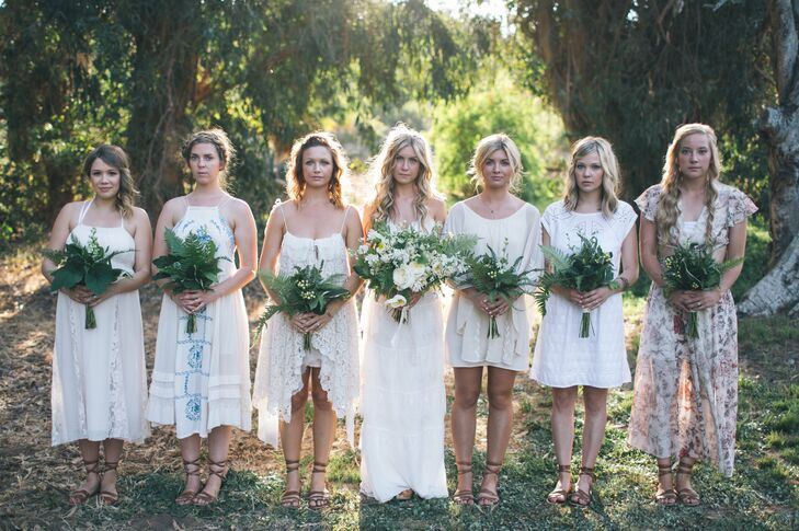 Mismatched Bohemian Bridesmaid Dresses