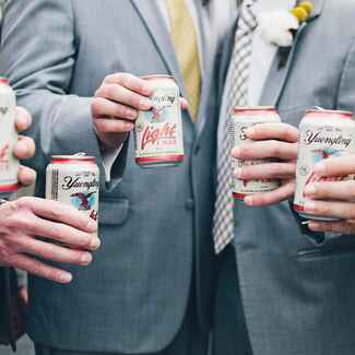 Groomsmen with beers