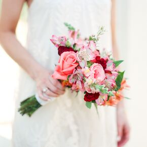 Wedding bouquets blush and burgundy bouquet junglespirit