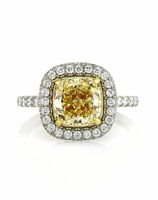 Mark Broumand 3.72ct Fancy Yellow Cushion Cut Diamond Engagement Anniversary Ring Engagement Ring photo