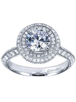 Gabriel & Co double halo engagement ring