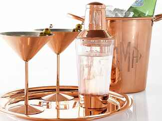 Mark and Graham copper ice bucket personalized wedding gift ideas