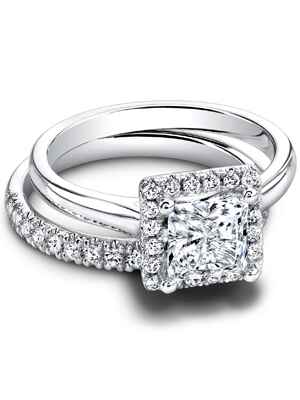 jeff cooper square cut engagement ring - Square Cut Wedding Rings