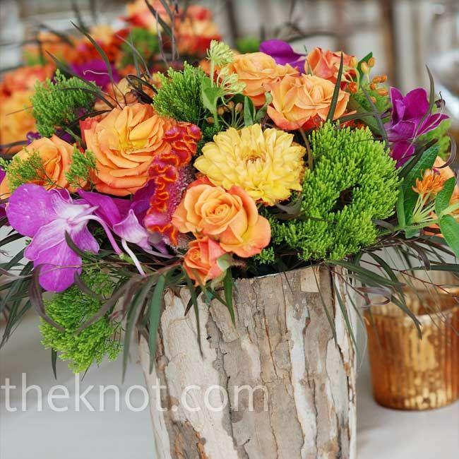 wooden vase centerpieces