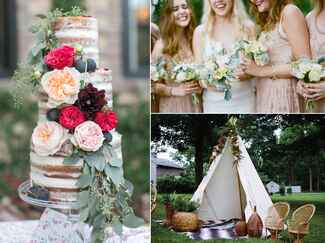 Ideas for a bohemian themed wedding