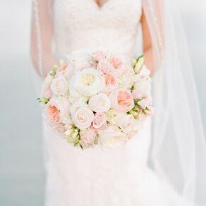Classic Romantic Garden Rose Bridal Bouquet