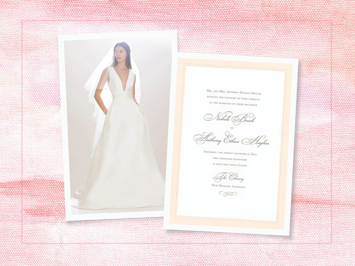 Perfect Wedding Dress and Invitation Pairs