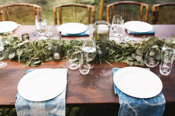 Eucalyptus Table Runners and Shibori Napkins