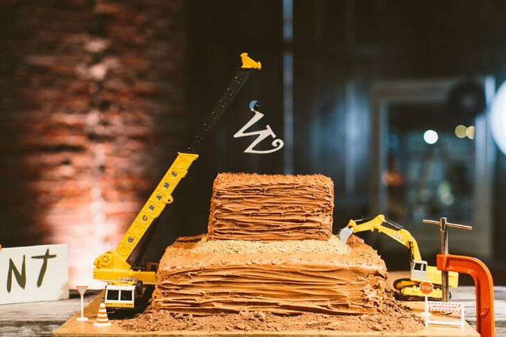 Construction Site Inspired Groom S Cake