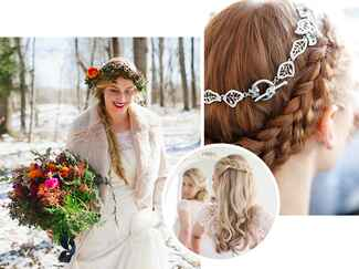 Winter wedding beauty and hair trends