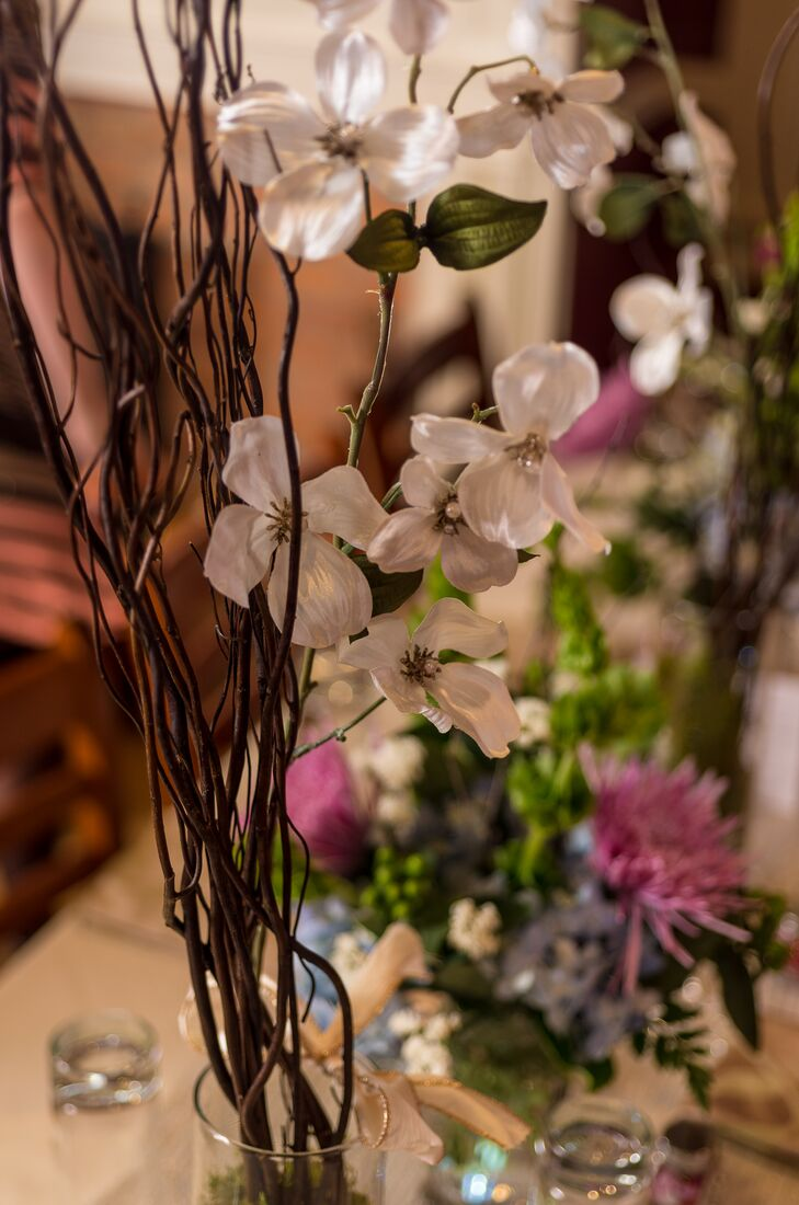 Tall Branchy Centerpiece With White Flowers