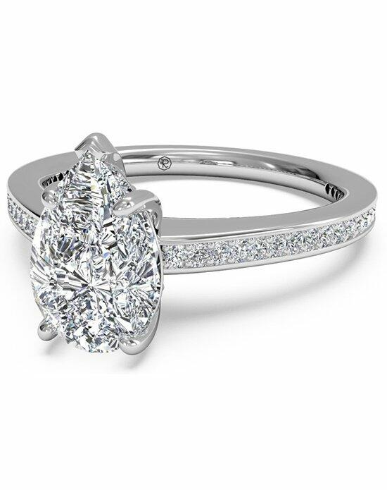 Ritani Pear Shaped Diamond Micropave Band Engagement Ring in Platinum (0.20 CTW) Engagement Ring photo