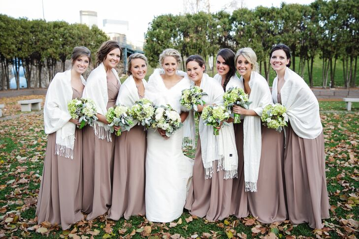 Taupe Colored Bridesmaid Dresses