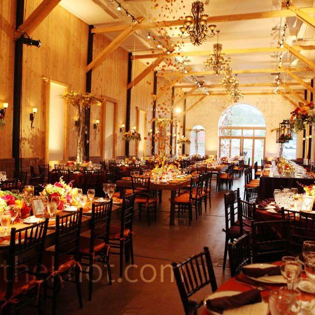 Autumn-inspired Reception Decor